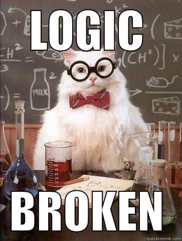 LOGIC BROKEN Science Cat
