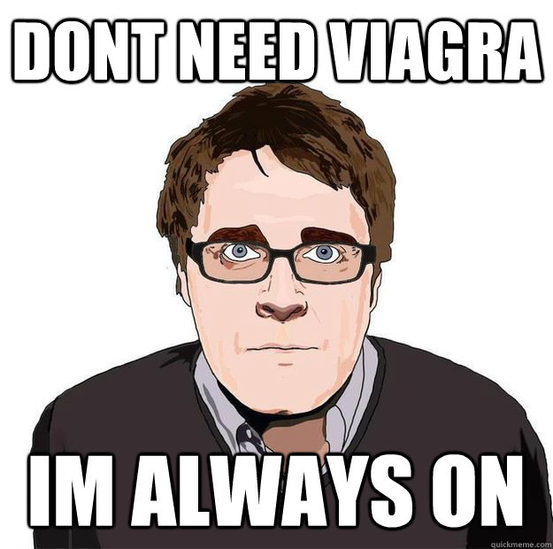 DONT NEED VIAGRA IM ALWAYS ON - DONT NEED VIAGRA IM ALWAYS ON  Always Online Adam Orth