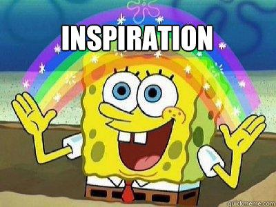 inspiration  rainbow spongebob