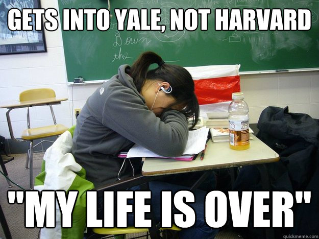 gets into yale, not harvard