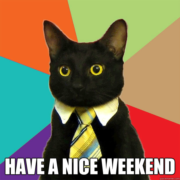 Have a nice weekend  -  Have a nice weekend   Business Cat