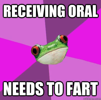 receiving oral  needs to fart - receiving oral  needs to fart  Foul Bachelorette Frog