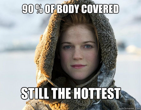90 % of body covered still the hottest