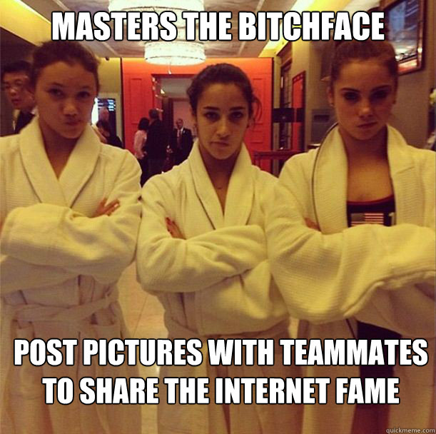 Masters the bitchface Post pictures with teammates to share the internet fame - Masters the bitchface Post pictures with teammates to share the internet fame  Misc
