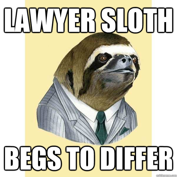 Lawyer Sloth Meme