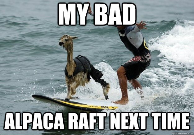 my bad alpaca raft next time - my bad alpaca raft next time  Misc
