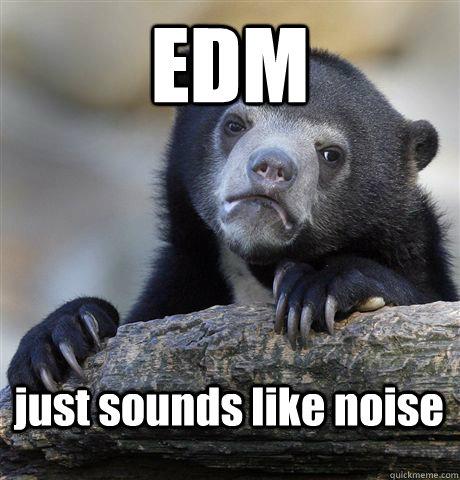 EDM just sounds like noise - EDM just sounds like noise  Confession Bear