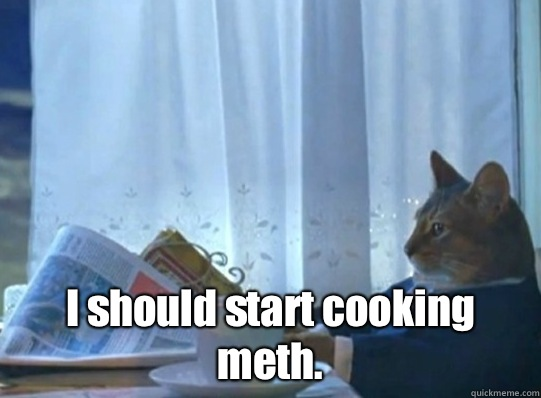 I should start cooking meth. -  I should start cooking meth.  Misc