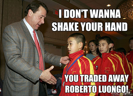 I Don T Wanna Shake Your Hand You Traded Away Roberto Luongo Mike
