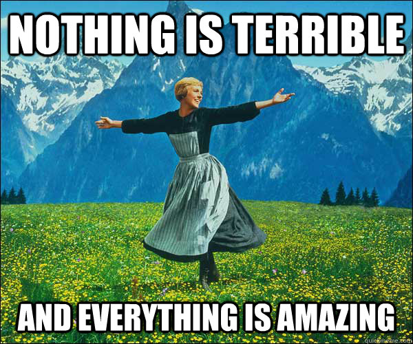 Nothing is terrible and everything is amazing - Nothing is terrible and everything is amazing  Sound of Music