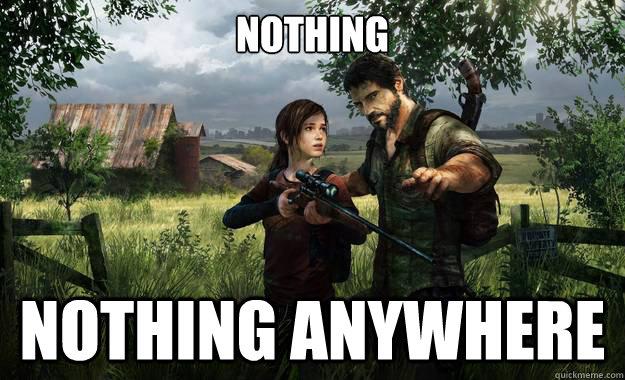 Nothing Nothing anywhere - Nothing Nothing anywhere  I just started a new game on Survivor mode...