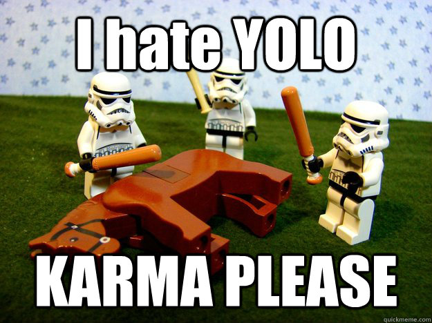 I hate YOLO KARMA PLEASE - I hate YOLO KARMA PLEASE  Misc