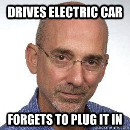 Drives Electric Car Forgets To Plug It In - Drives Electric Car Forgets To Plug It In  scumbag-journalist