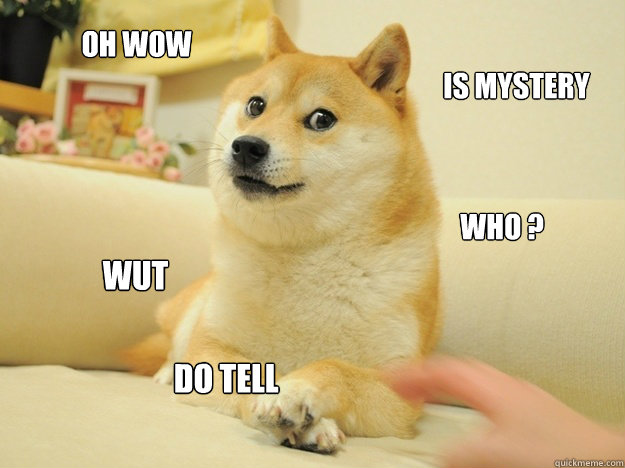 Oh wow Is mystery who ? wut  do tell  doge