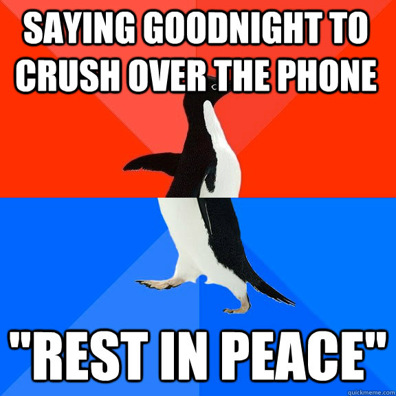 Saying goodnight to crush over the phone