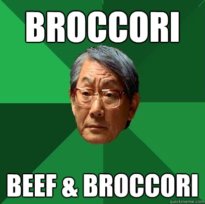 broccori beef & broccori - broccori beef & broccori  High Expectations Asian Father