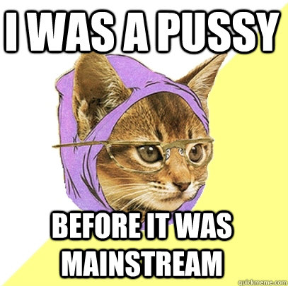 I was a pussy  before it was mainstream - I was a pussy  before it was mainstream  Hipster Kitty