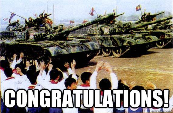 congratulations!  Congrats