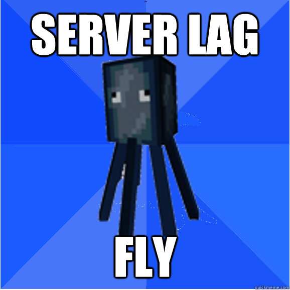 Server lag fly - Server lag fly  Socially Awkward Squid