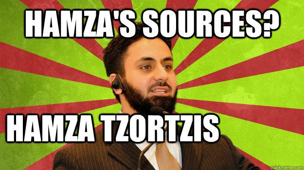 Hamza's Sources? Hamza Tzortzis