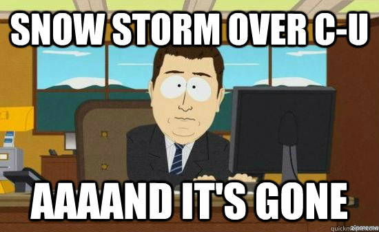 Snow storm over C-U AAAAND it's gone - Snow storm over C-U AAAAND it's gone  aaaand its gone