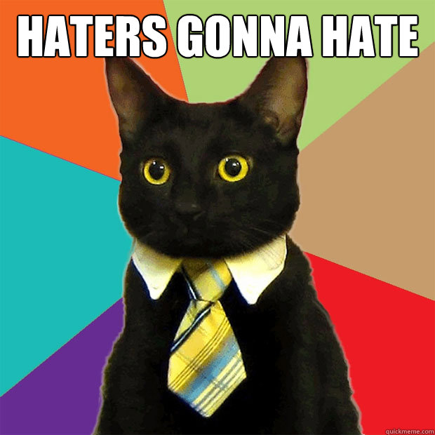 haters gonna hate  - haters gonna hate   Business Cat