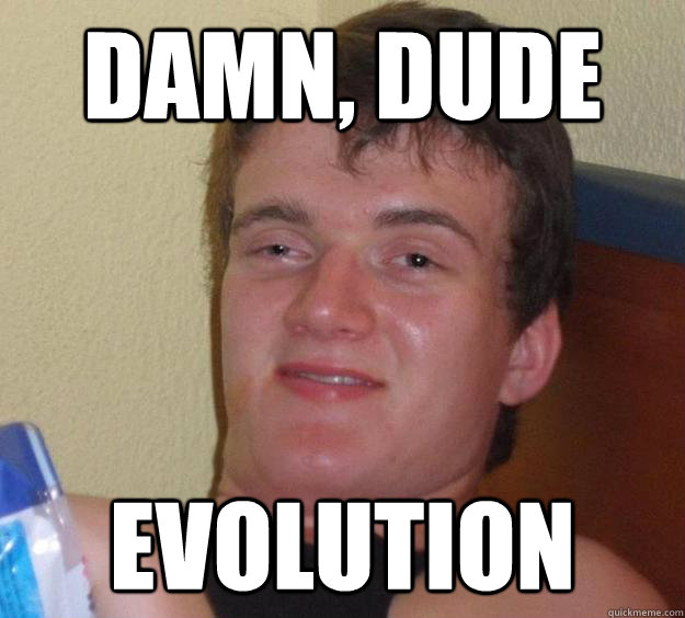 Damn, dude evolution - Damn, dude evolution  10 Guy