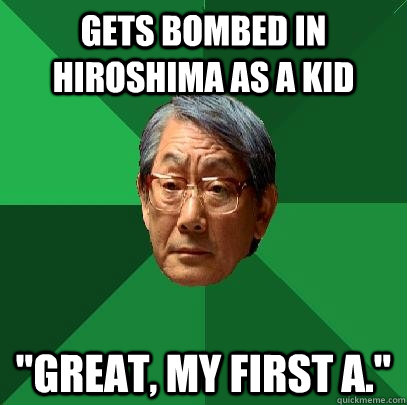 gets bombed in hiroshima as a kid