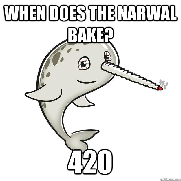 When does the narwal bake? 420 - When does the narwal bake? 420  The Narwal Bakes at 420