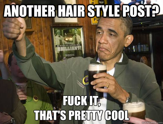 another hair style post? Fuck it, that's pretty cool - another hair style post? Fuck it, that's pretty cool  Upvoting Obama
