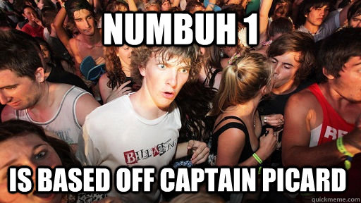 numbuh 1 is based off Captain Picard - numbuh 1 is based off Captain Picard  Sudden Clarity Clarence