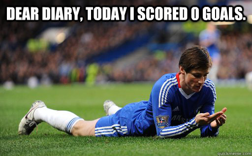 dear diary, today i scored 0 goals. היום הבקעתי אפס גולים - dear diary, today i scored 0 goals. היום הבקעתי אפס גולים  Torres