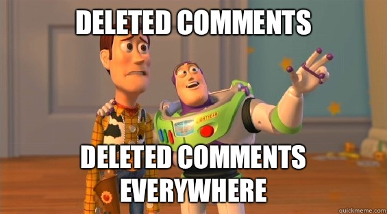 Deleted Comments Deleted Comments Everywhere - Deleted Comments Deleted Comments Everywhere  boromirs everywhere