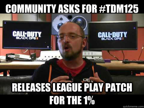 COMMUNITY ASKS FOR #TDM125 RELEASES LEAGUE PLAY PATCH FOR THE 1%