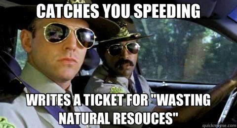 CATCHES YOU SPEEDING WRITES A TICKET FOR