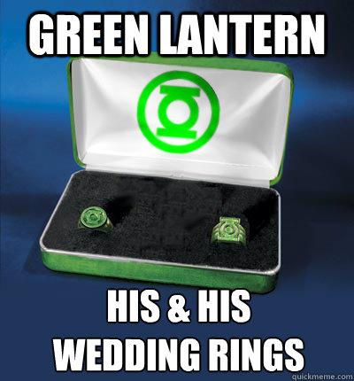 Green lantern his & his wedding rings - Green lantern his & his wedding rings  gay lantern