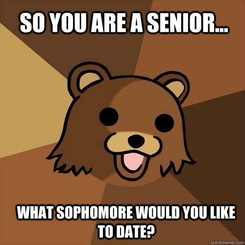 sophomore and senior dating