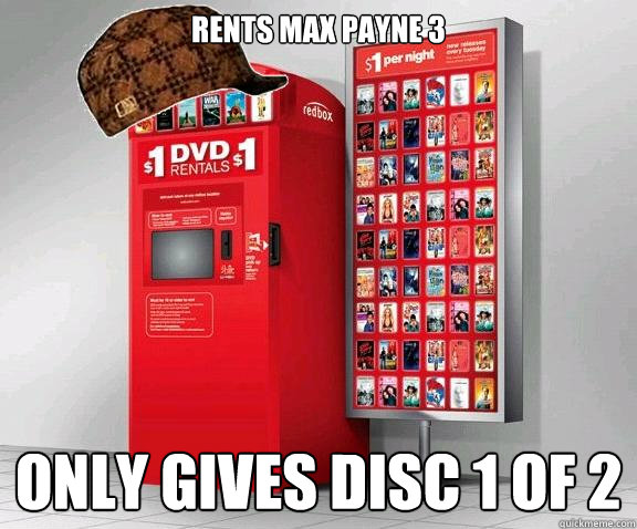 Rents Max Payne 3 only gives disc 1 of 2