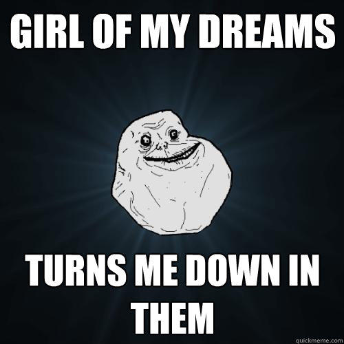 Girl of my dreams turns me down in them - Girl of my dreams turns me down in them  Forever Alone
