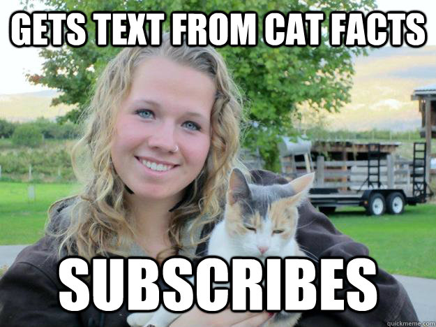 Gets text from Cat facts subscribes