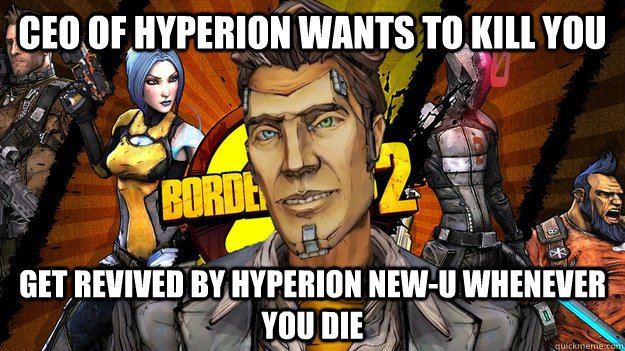 Ceo of hyperion wants to kill you Get revived by hyperion New-U whenever you die - Ceo of hyperion wants to kill you Get revived by hyperion New-U whenever you die  Misc
