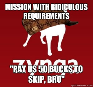 Mission with ridiculous requirements