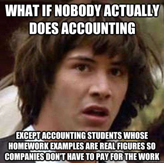 Funny Memes For Accountants : Accounting one two