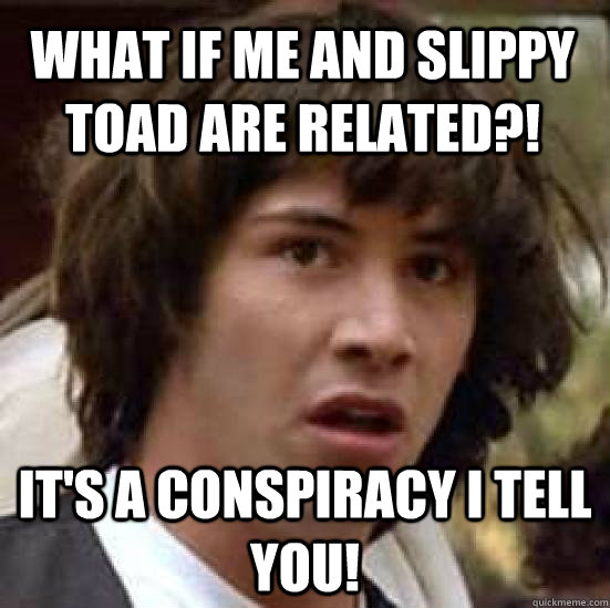 What If Me And Slippy Toad Are Related Its A Conspiracy I Tell
