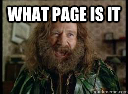 WHAT PAGE IS IT  - WHAT PAGE IS IT   What year is it