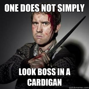 One does not simply  look boss in a cardigan  Neville longbottom