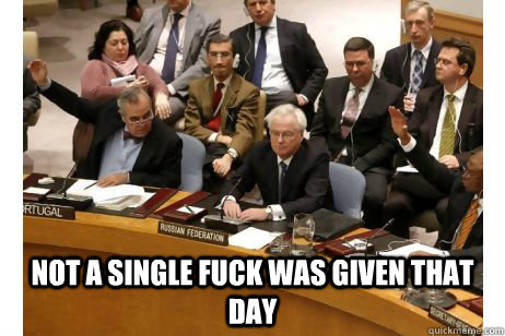 Not a single fuck was given that day -  Not a single fuck was given that day  Russia on syrian bloodshed