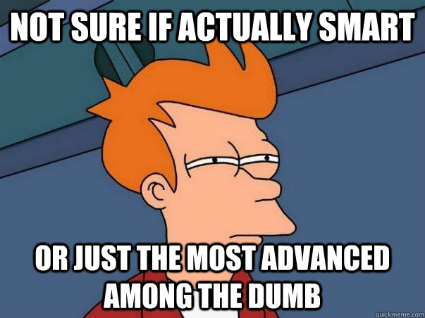 Not sure if actually smart or just the most advanced among the dumb