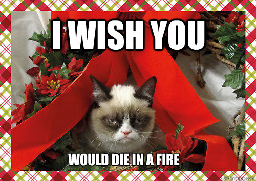 i wish you would die in a fire - i wish you would die in a fire  merry christmas
