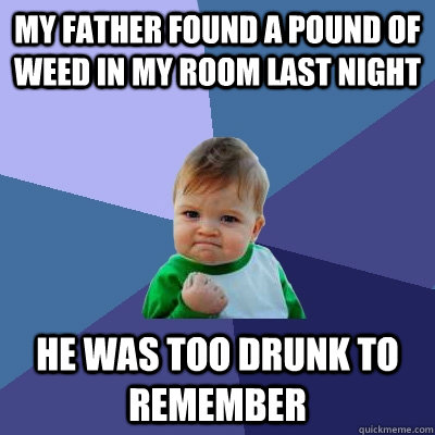 My father found a pound of weed in my room last night he - Who was in my room last night live ...